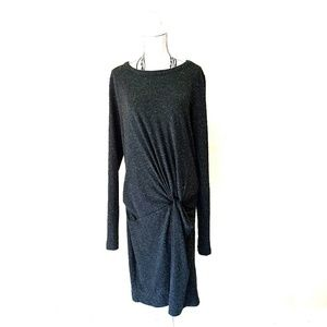 Topshop Knit Dress with Ruched Details